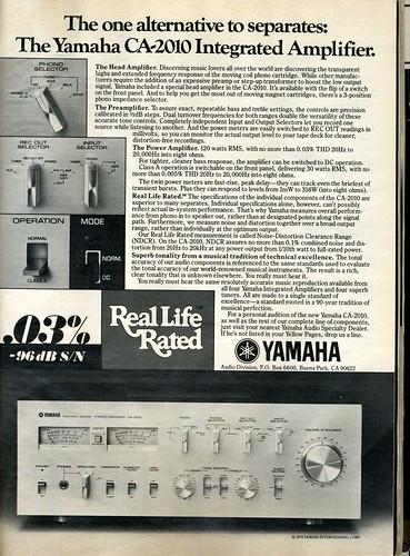 Yamaha Integrated Amplifier Stereo Ax