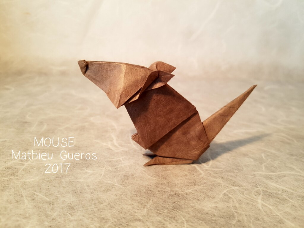 Origami Mouse Designed And Folded By Myself From One Uncut Flickr