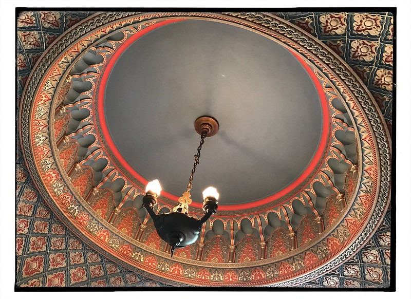 Fantastic ceiling in the Turkish Smoking Room in the Pittock Mansion. #pdx