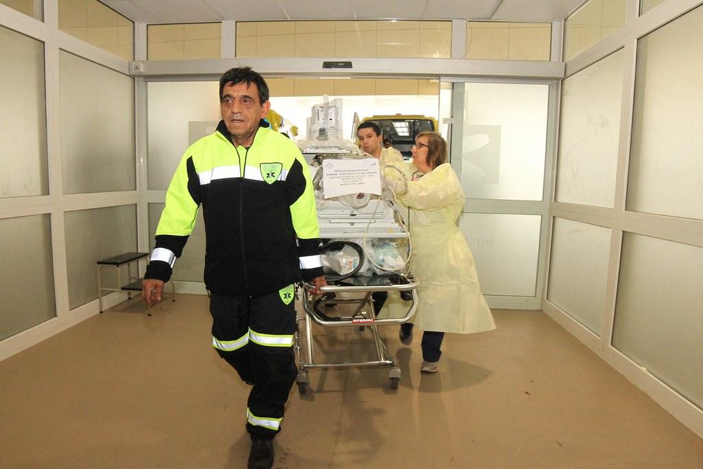 SAMU Metropolitano colabora en exitoso traslado de pacientes al nuevo Hospital Regional de Rancagua