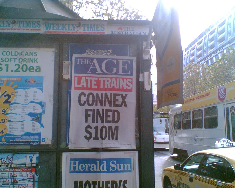 Age headline: Connex fined