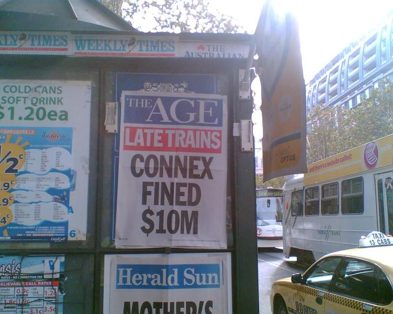 Age headline: Connex fined