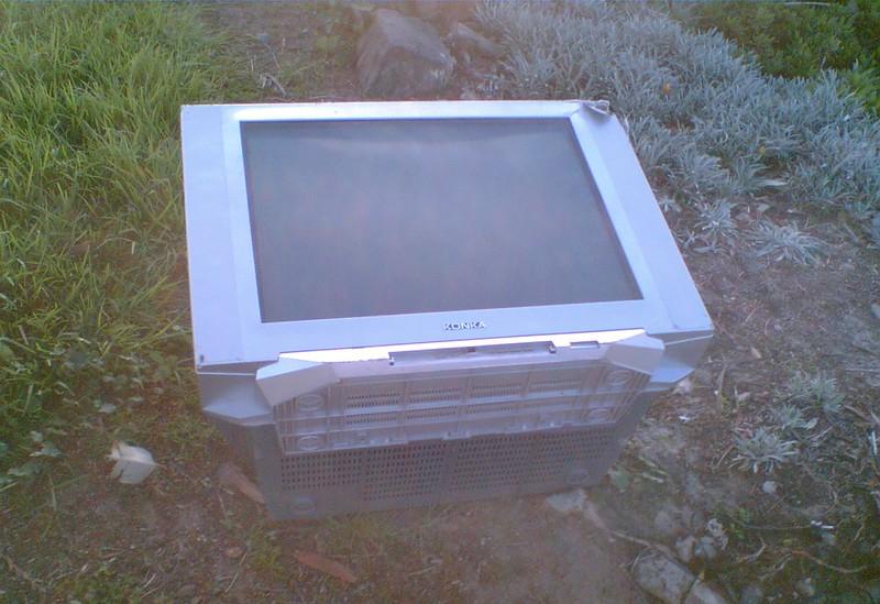 Konka TV dumped