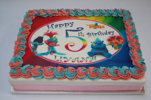 Trolls Edible Print Cake