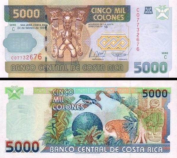 5000 Colones Kostarika 1999, P2268Aa