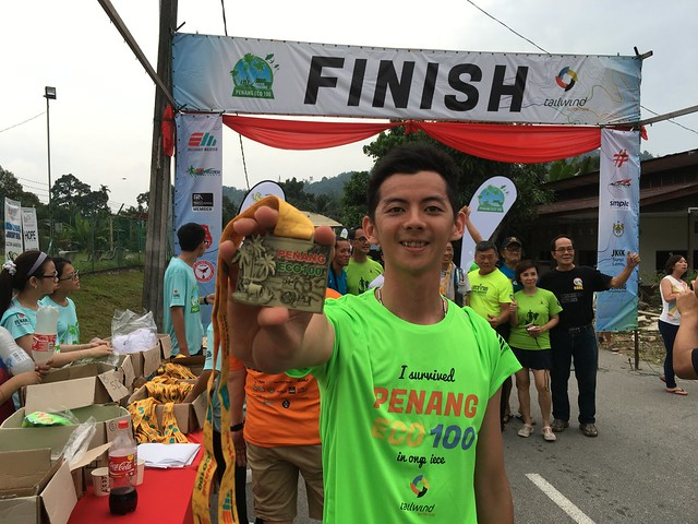 Penang ECO 100 finisher medal