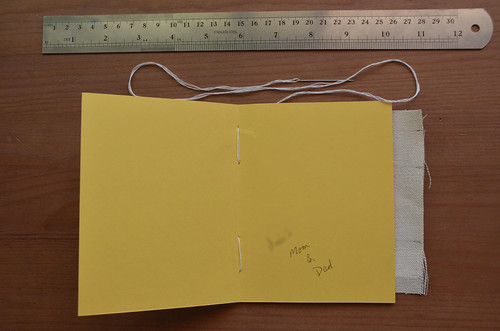 Inside of stitched card