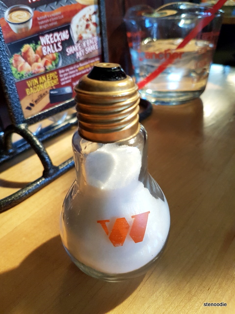 Light bulb salt shaker