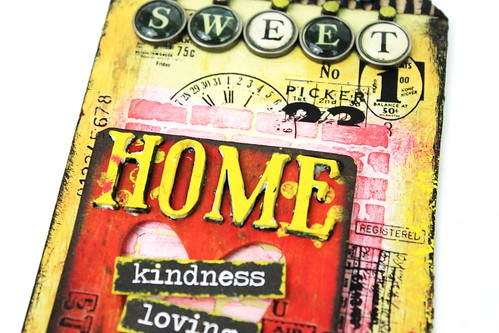 Meihsia Liu Simply Paper Crafts Mixed Media Tag Sweet Home Simon Says Stamp Tim Holtz 3