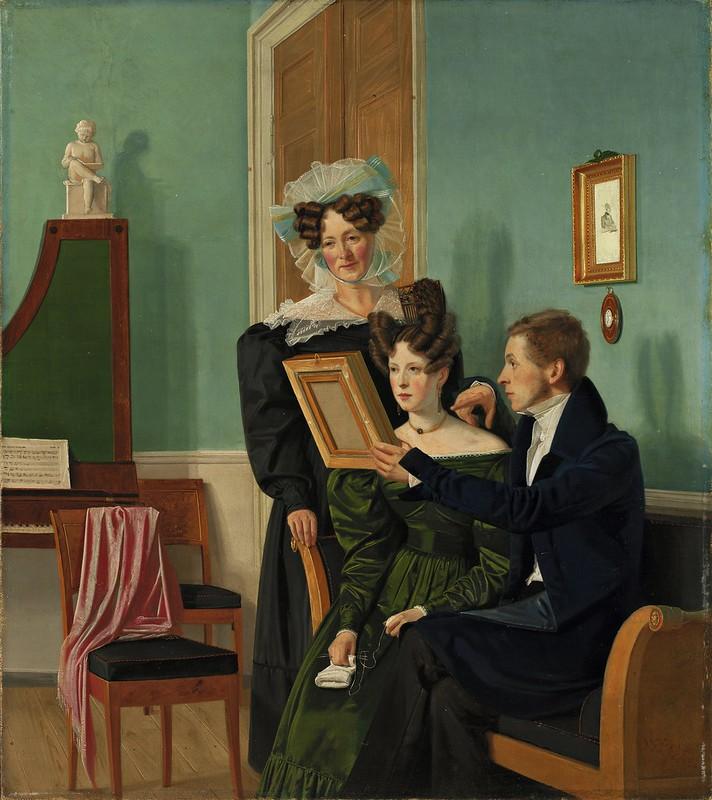 Wilhelm Bendz - Familien Raffenberg, 1830