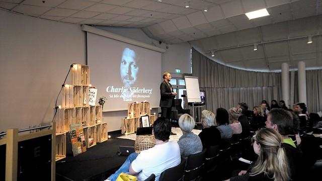 Charlie Söderberg föreläste på Mitt Företags-turnéns Skapa ditt drömföretag