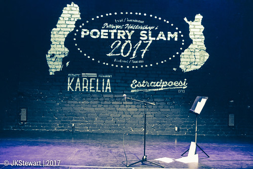 Poetry Slam Qualification event 01 at Kulturhuset Karelia 2017 | Estradpoesi FI