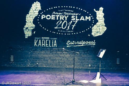 Poetry Slam Qualification event 01 at Kulturhuset Karelia 2017   Estradpoesi FI