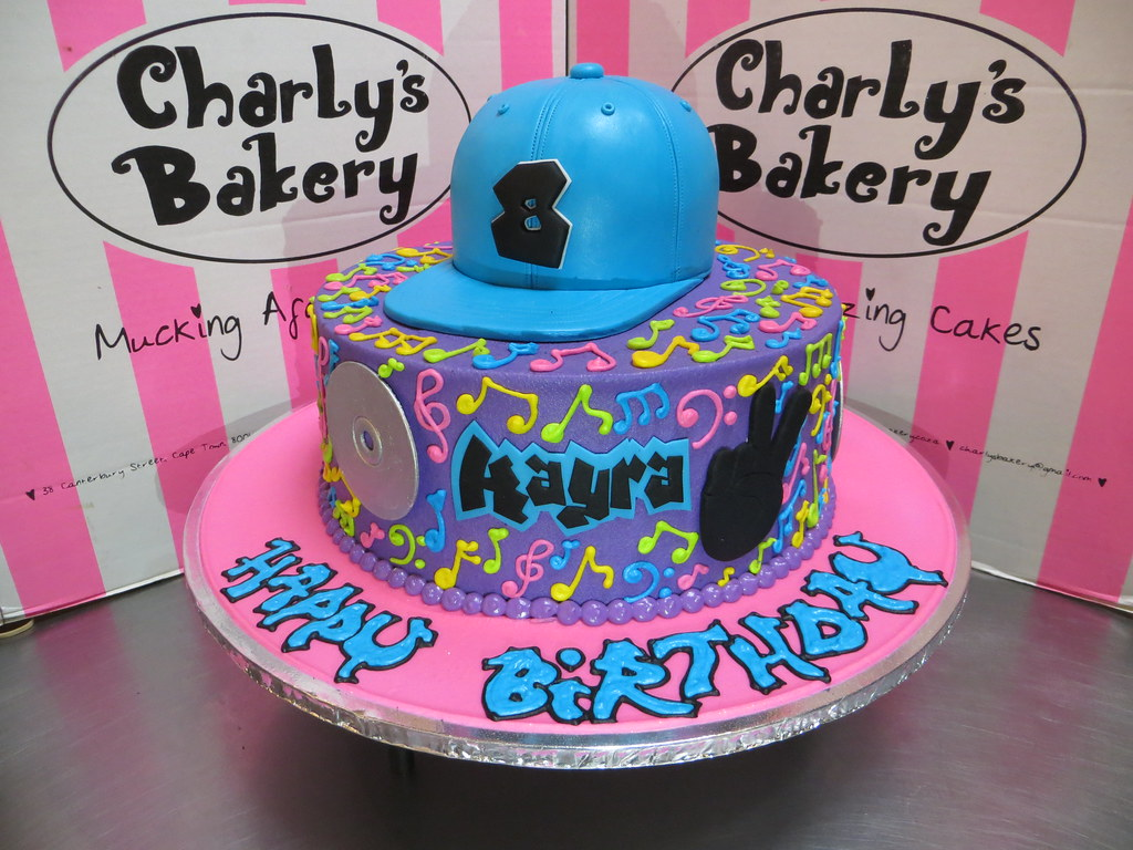 Hip Hop Themed Single Tier Birthday Cake With 3d Personali Flickr