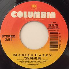 MARIAH CAREY:I DON'T WANNA CRY(LABEL SIDE-B)
