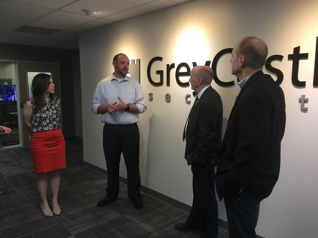 Mayor Patrick Madden tour of GreyCastle Security