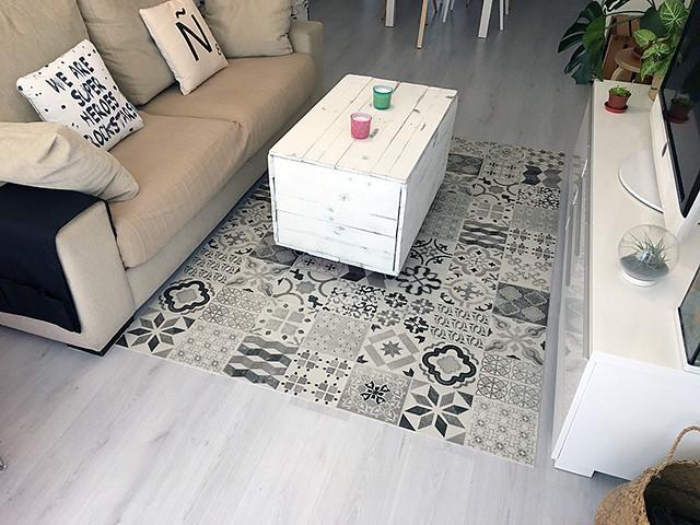 suelo vinilico, muebles diseño