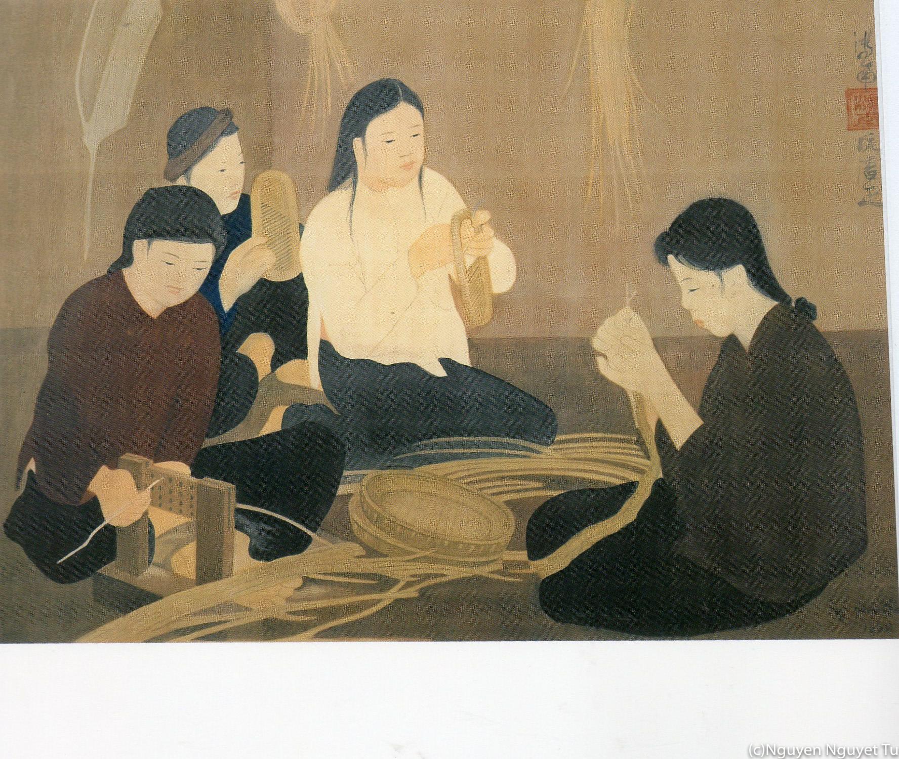《竹を編む》(1960年、福岡アジア美術館蔵)