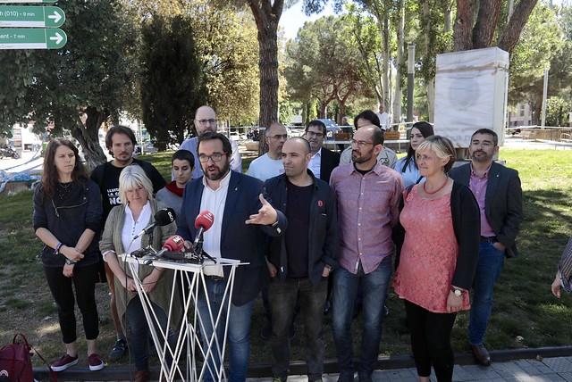 Presentació de les actuacions vinculades a la memòria històrica i retirada monolit Alcalde Marcet