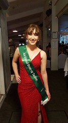 Sinead Fitzgerald, representing the Auckland Irish Society