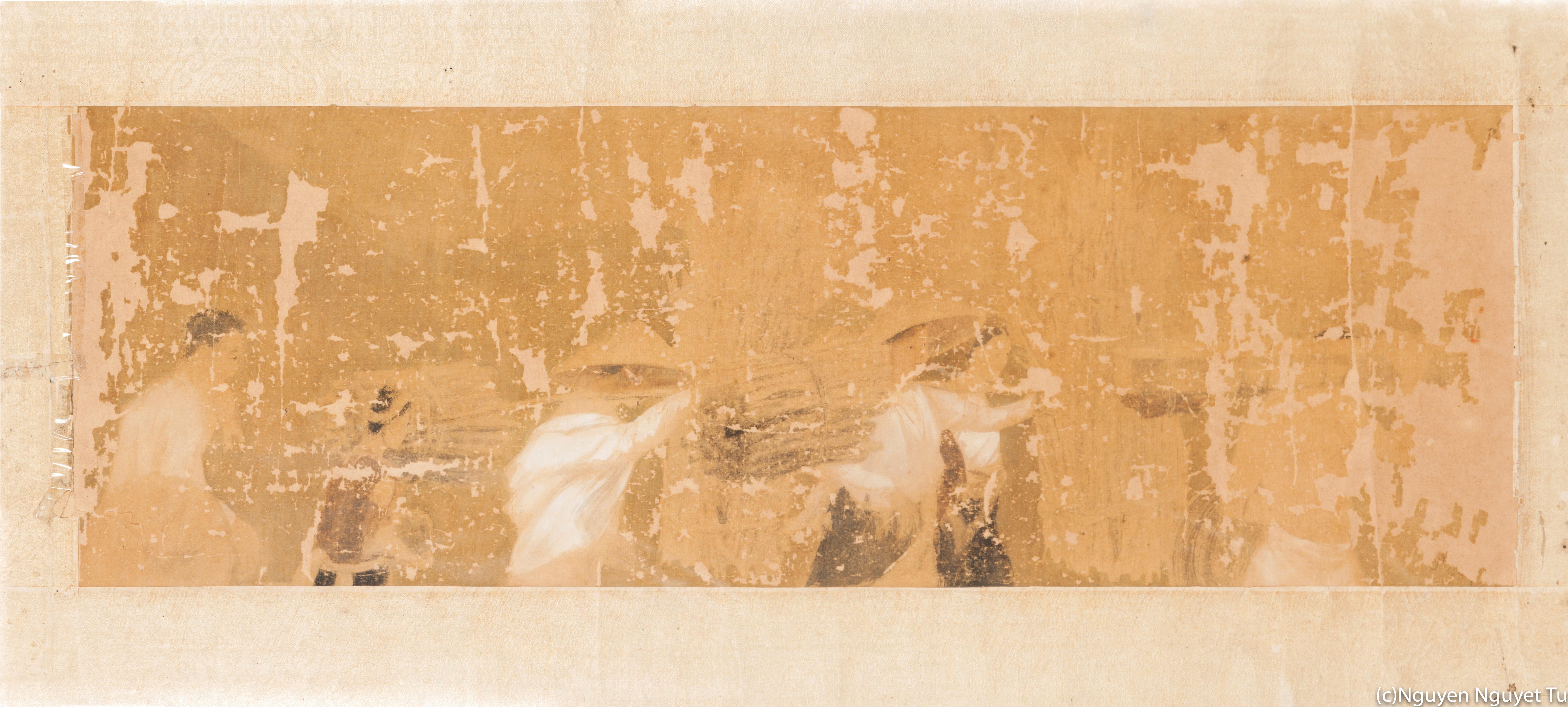 グエン・ファン・チャン《薪を取りに行く》(1938年、三谷産業株式会社蔵》修復後