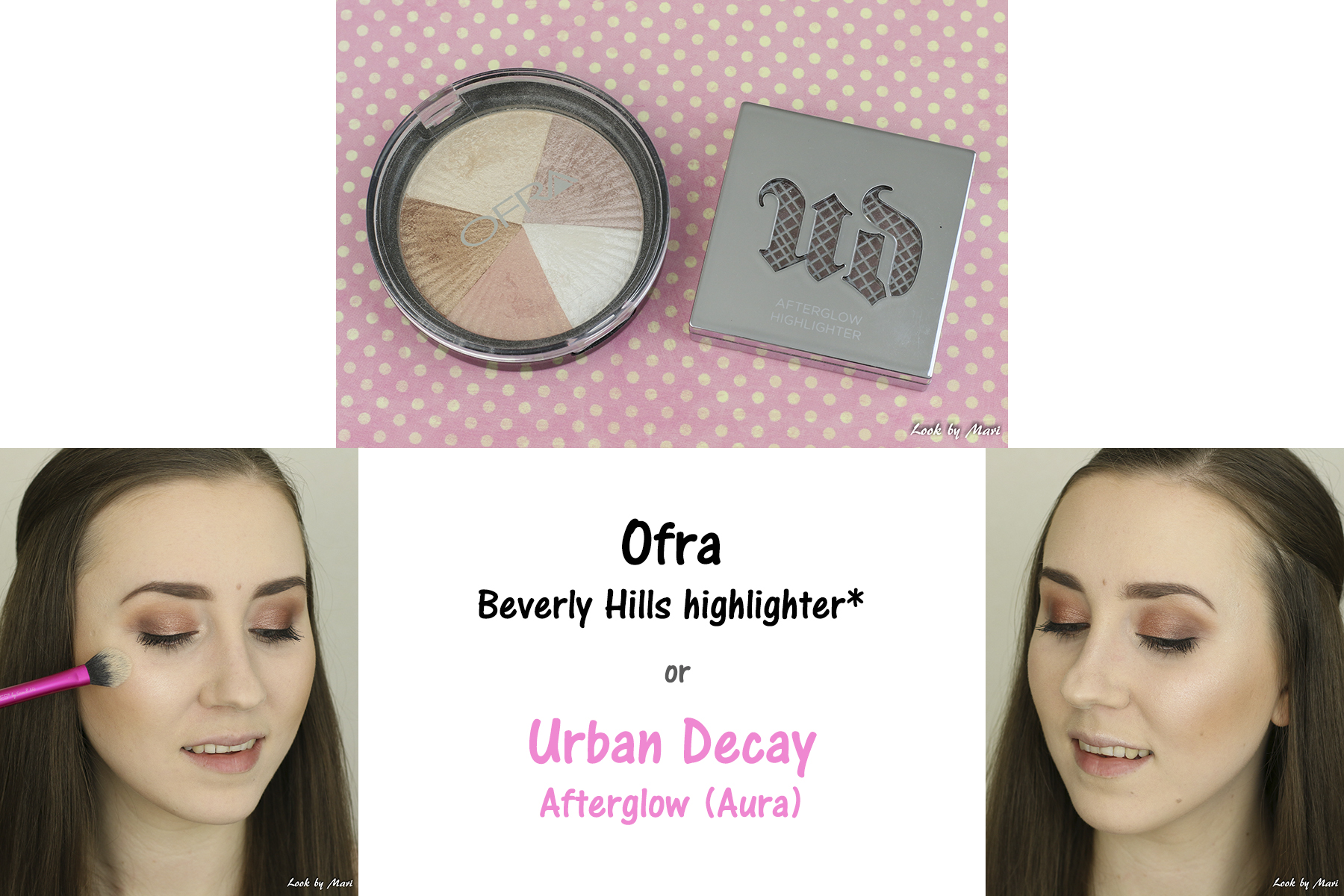 15 ofra beverly hills highlighter review swatches urban decay afterglow aura