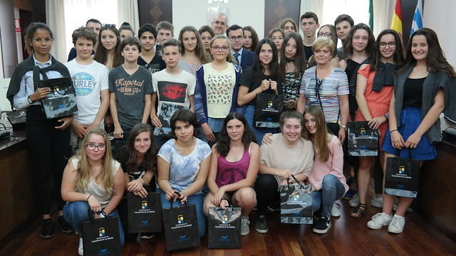 Recepción alumnos del Collège Labenne