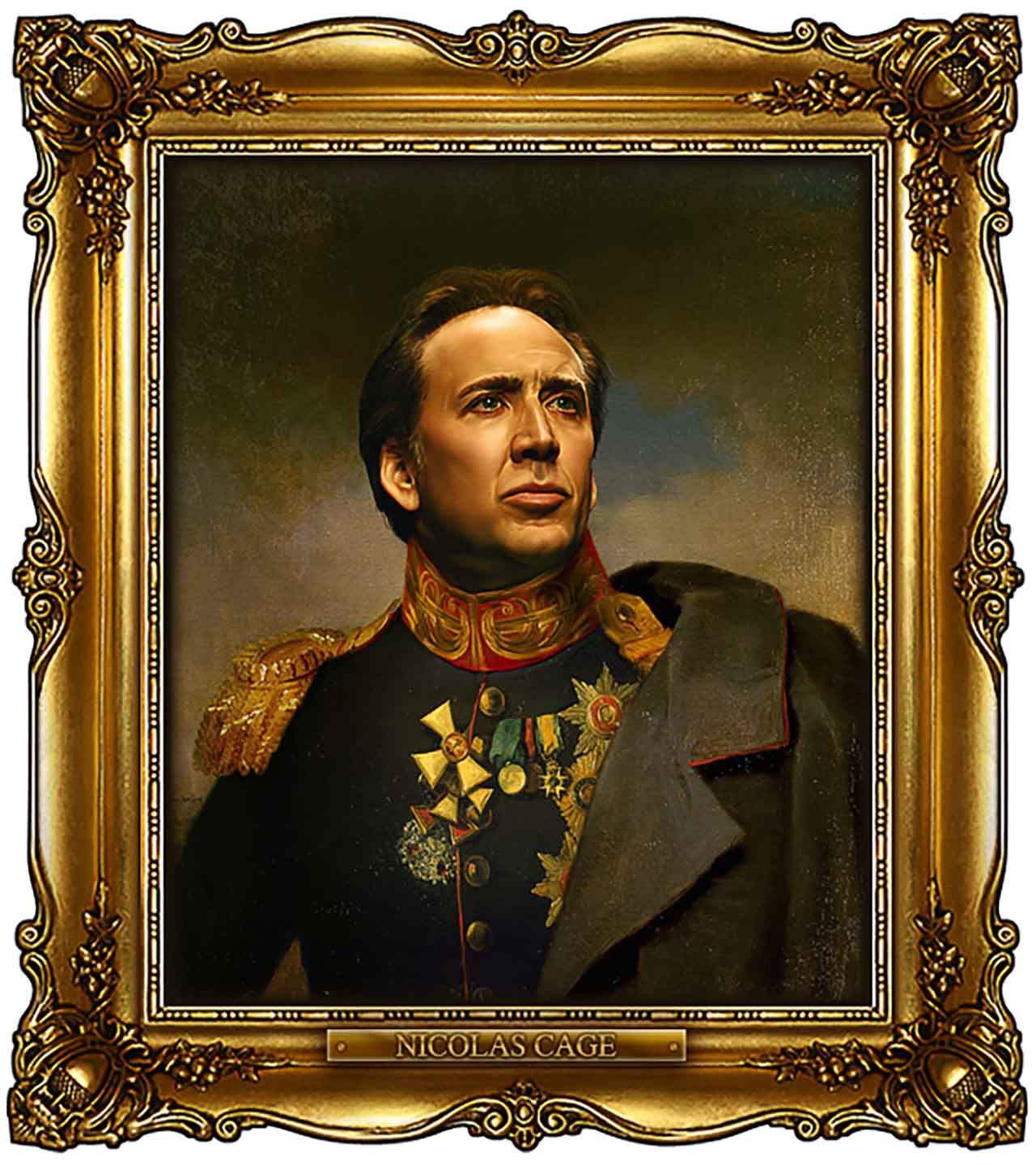 Artist Turns Famous Actors Into Russian Generals - Nicolas Cage
