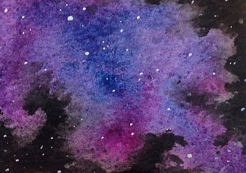 Watercolour Galaxy . #galaxy #watercolour #watercolours #watercolourgalaxy #galaxypainting