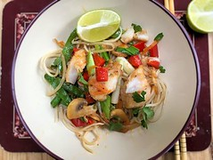 Thai fish stir fry
