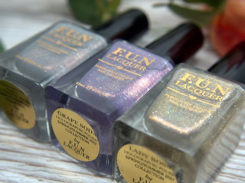 F.U.N Lacquer swatches