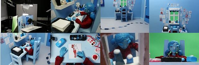 Animation Blue Bedroom Scene 2