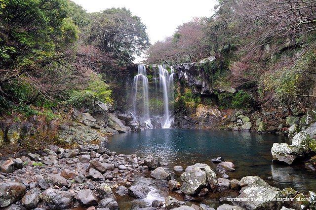 Cheonjeyeon Waterfall in Jeju Island