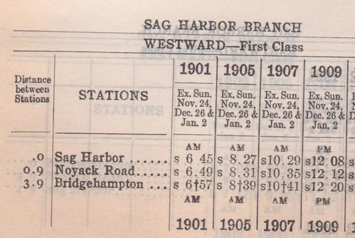 LIRR 1927 Sag Harbor Branch