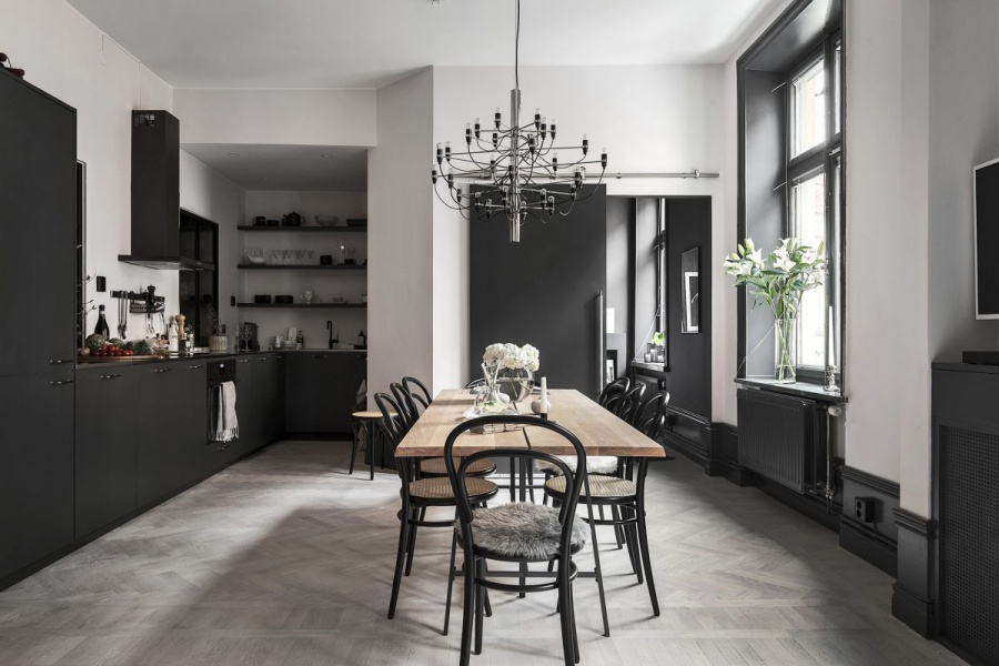 Dark Minimalist Swedish Home