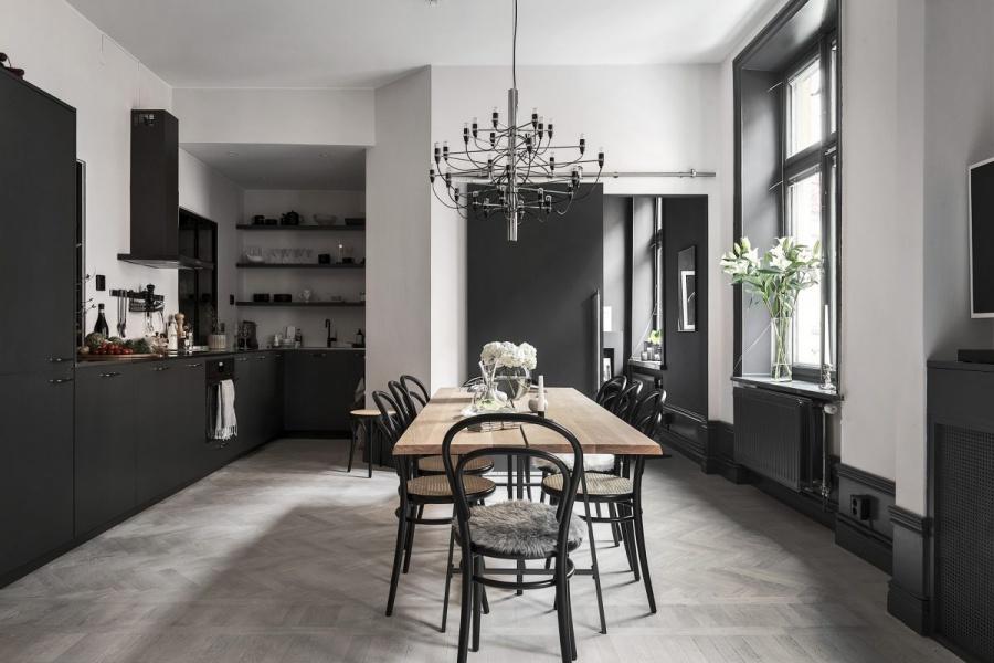 Dark Minimalist Swedish Home