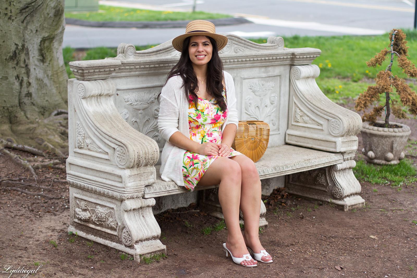 floral dress, white cardigan, straw hat, bamboo bag-9.jpg