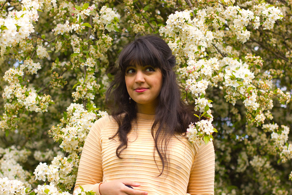 going green eco-living vegan slow fashion cruelty free uk blog london laila kew gardens hanami cherry blossom