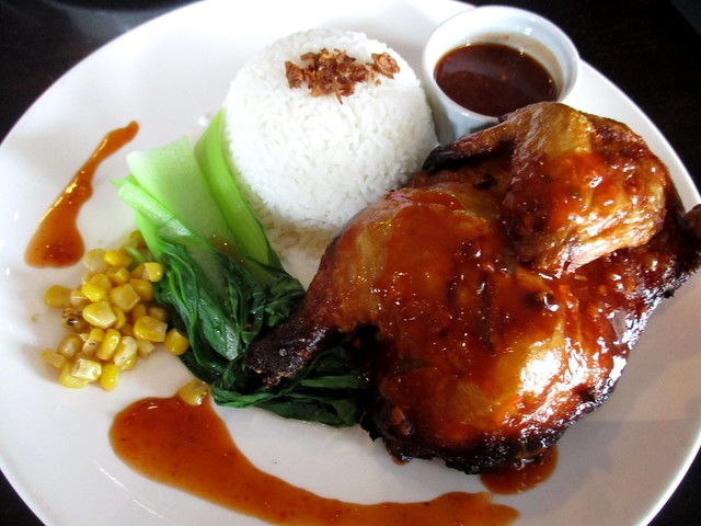 Le Cafe barbecued chicken rice