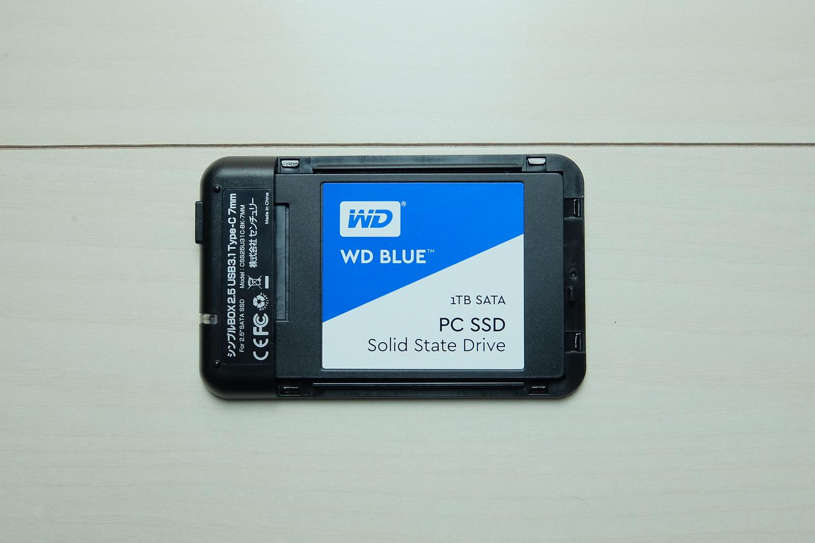 WD SSD + CENTURY SSD Case