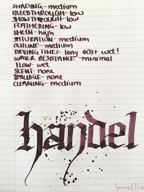 Ink Shot Review Diamine Music Handel @AppelboomLaren 5