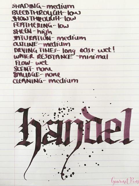 Ink Shot Review Diamine Music Handel @AppelboomLaren 5