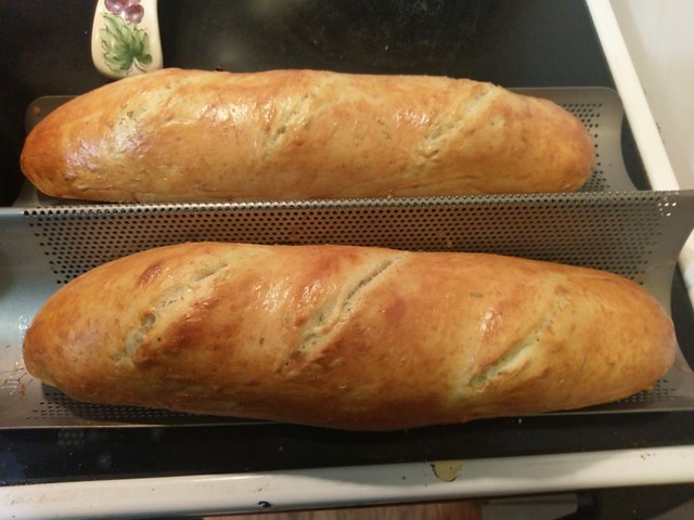 Rachelle's sourdough version of Italian Herb bread