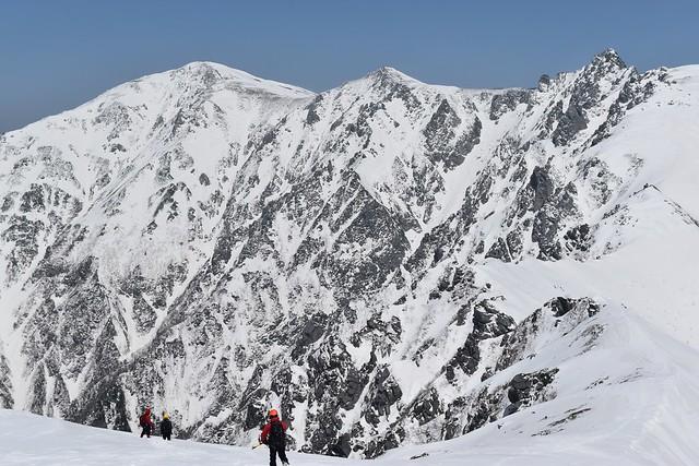三ノ沢岳から望む木曽駒ヶ岳~中岳~宝剣岳