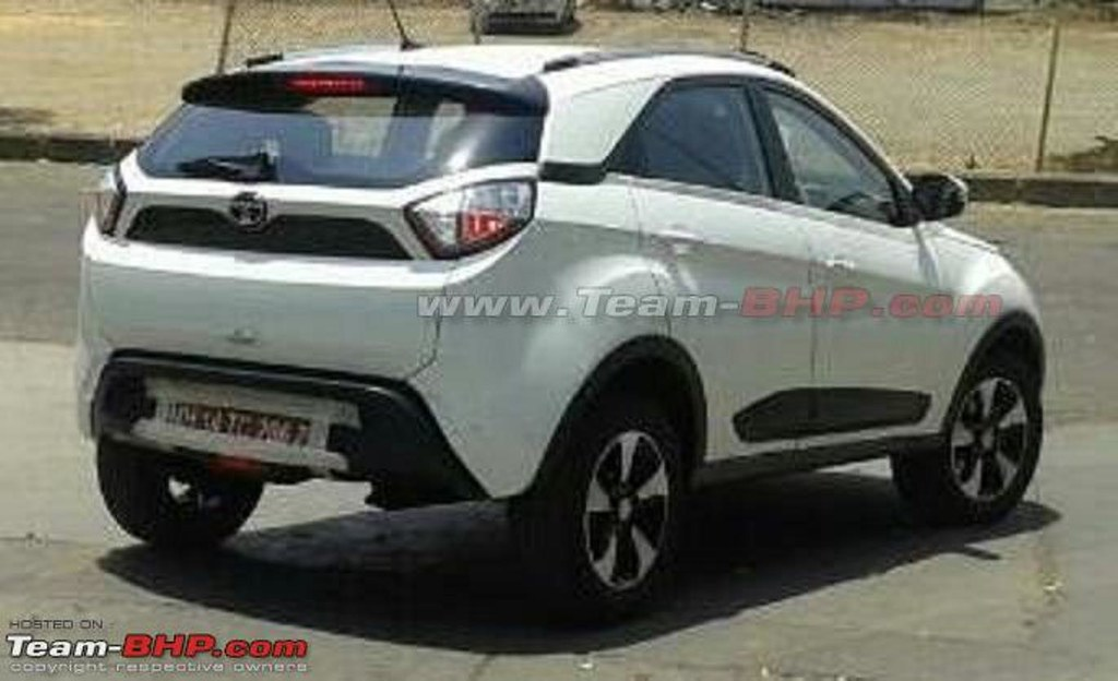 Tata-Nexon-rear-quarter-spied-undisguised-on-testv