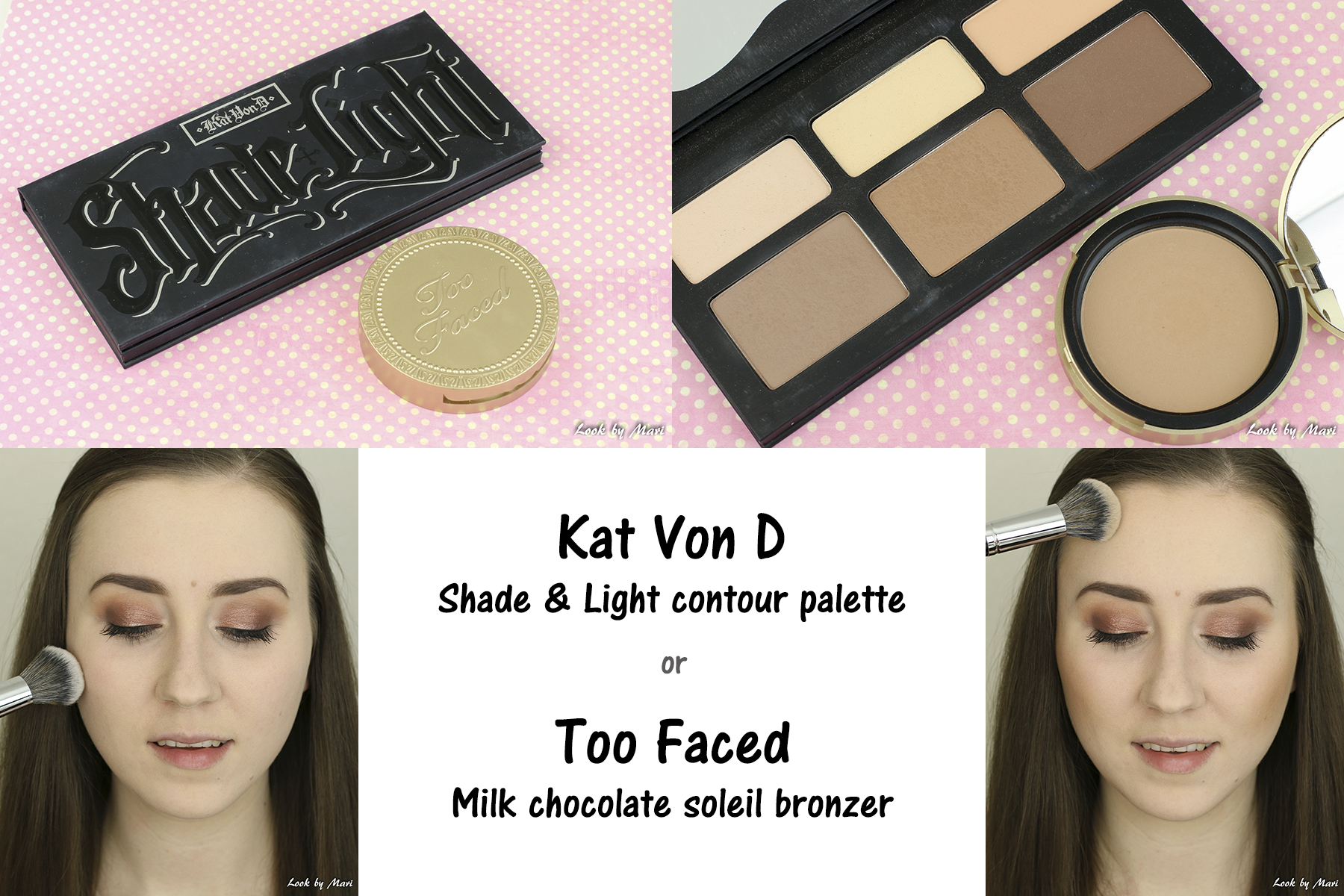 14 kat von d shade & light contour palette review too faced milk chocolate