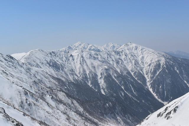 中央アルプス・雪の空木岳