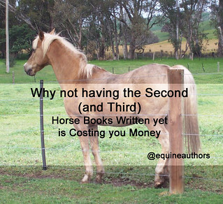 Why not having the Second (and Third) Horse Books Written yet is Costing you Money. @equineauthors