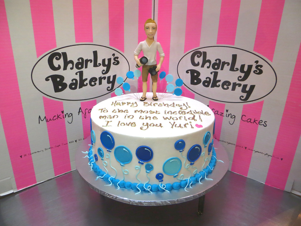 Single Tier Birthday Cake With 3d Personalised Photographe Flickr