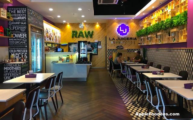 La Juiceria Superfoods at The Verve Shops - Restaurant Layout